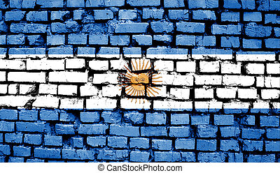 Argentina flag in the old retro background effect