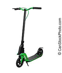kick scooter - Side view of kick scooter with front brake...