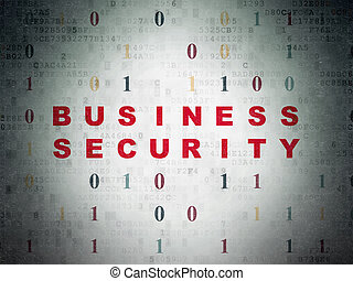 Privacy concept: Business Security on Digital Data Paper...