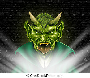 Internet Troll - Internet troll and trolling monster using...
