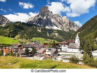 Corvara in Badia, church in Corvara, Dolomites, Italy