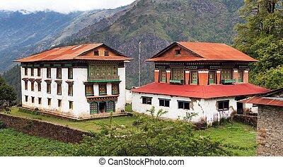 Beautiful buildings near Salleri village, Solukhumbu,...