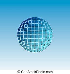 Vector globe icon. Abstract web Icon. Earth logo template....