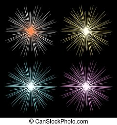 Glow light effect. White glowing light explosion. Bright...