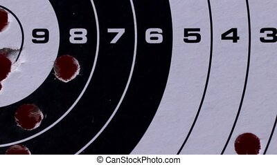 Used target close up - Bullets Hitting Paper Target 1