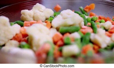 Frozen vegetables close up 1