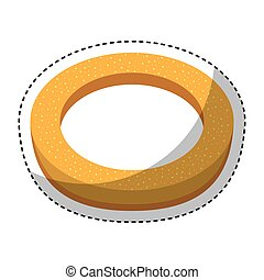delicious bread roll bakery product vector illustration...