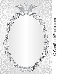 A4 - silver background with royal frame