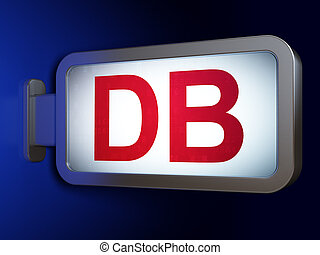 Stock market indexes concept: DB on billboard background -...