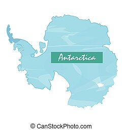 Isolated map of Antartica on a white background, Vector...