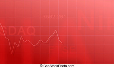 Market indexes - red #2 - Abstract background - the...