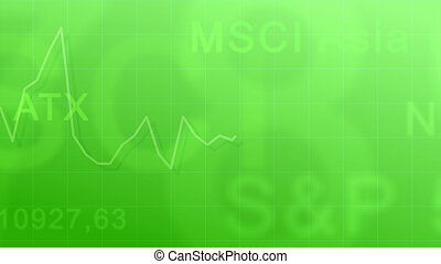 Market indexes - green #2 - Abstract background - the...