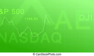 Market indexes - green #3 - Abstract background - the...