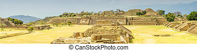 Panorama view of Monte Alban - Oaxaca - Panorama of Monte...