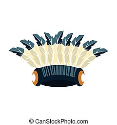 Tall War Bonnet With Feathers, Native American Indian...