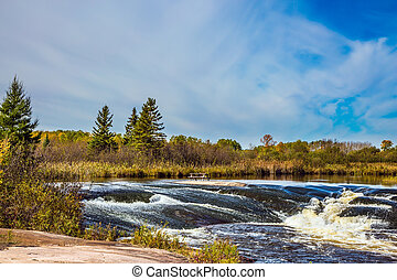 """The rapids on stones - The concept of travel """"Around the..."""