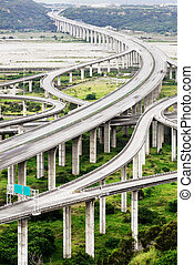Architecture of highway construction with beautiful curves...