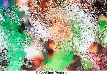 Abstract in bright colors design element with real light...