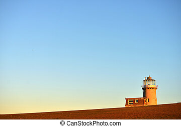 Lighthouse - Belle tout lighthouse bathed in evening sun