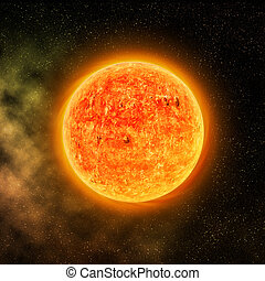 Magnificient Sun - Digitally generated image of a space...