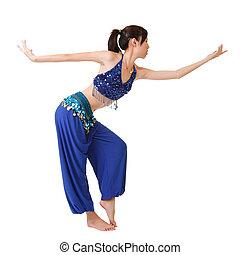 Attractive dancer dancing