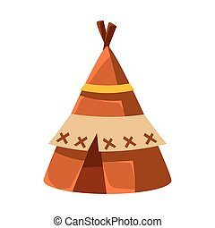 Wigwam Leather Living Hut, Native American Indian Culture...