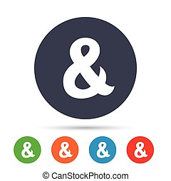 Ampersand sign icon. Logical operator AND. - Ampersand sign...