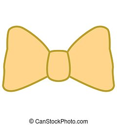 Isolated bowtie icon on a white background, Vector...