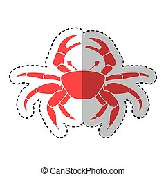 crab sealife isolated icon vector illustration design