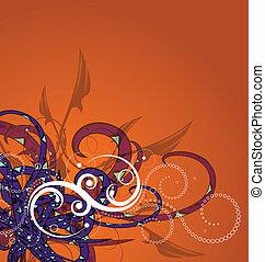 Floral Background - Editable modern vector floral background...