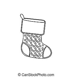 sihouette christmas boots icon, vector illustraction design...