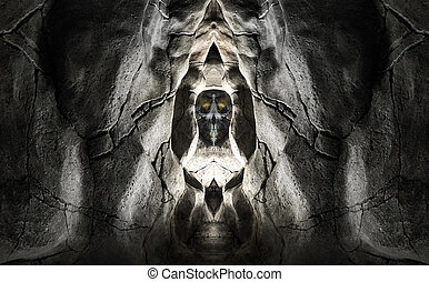 abstract sacred cave
