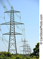 Pylons - Electricity pylons in trees, uk power