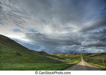 Storm clouds in Saskatchewan