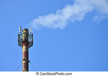 Chimney steam pipe of industrial manufacturing plant