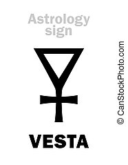 Astrology: asteroid VESTA - Astrology Alphabet: VESTA...