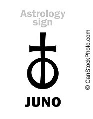 Astrology: asteroid JUNO - Astrology Alphabet: JUNO, classic...
