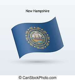 State of New Hampshire flag waving form. - State of New...