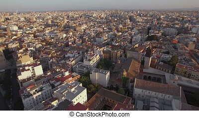 Architecture of Valencia, aerial view - Aerial panorama of...