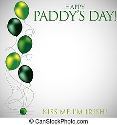 Balloon St Patrick's Day card in vector format.