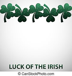 Shamrock cut out St. Patrick's Day card in vector format.