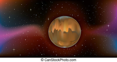 planet Mars - planet mars floating harmoniously through...