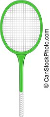 Tennis racket in retro design