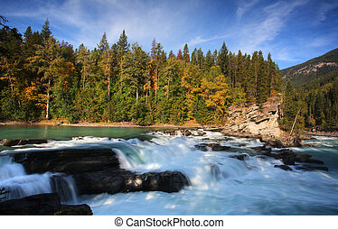 Backguard Falls on Fraser River in British Columbia