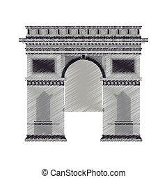 arc de triomphe icon image vector illustration design