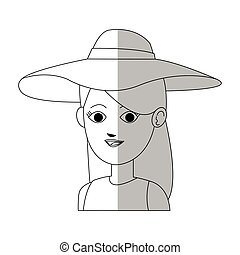 pretty young woman in summer outfit  icon image