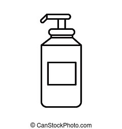 shampoo - simple thin line shampoo icon vector