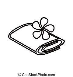 towel - simple thin line towel icon vector