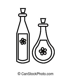 potion - simple thin line potion icon vector