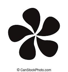 jasmine - simple flat black jasmine icon vector